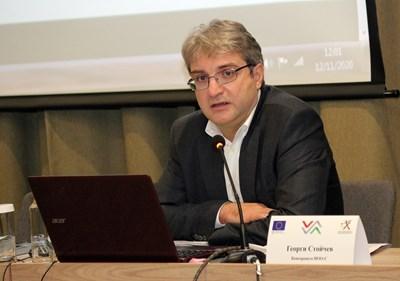 Георги Стойчев - ръководител на консорциума, който подготвя рейтинговата система СНИМКА: Румяна Тонeва