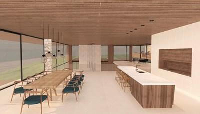 """Март - Йоана Костадинова: """"Лятна резиденция в планината"""" е преддипломният проект на студентката в Университета по архитектура, строителство и геодезия, катедра """"Интериор и дизайн на архитектурата"""""""