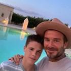 Дейвид Бекъм и синът му Круз Снимка: Инстаграм