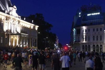 Протестът снощи Снимка: Велислав Николов
