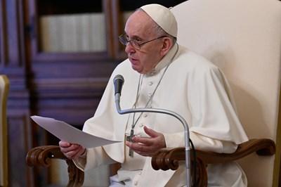 Папа Франциск  Снимка Ройтерс