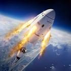 Капсулата Dragon, която ще се отдели от ракетата Falcon 9. Илюстрация: SpaceX