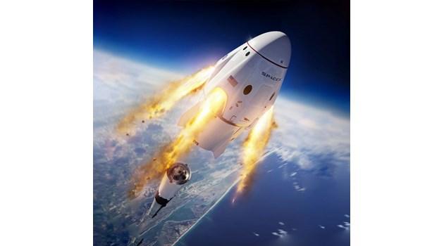 """""""Драконът"""" на Илън Мъск излита довечера - за пръв път хора в космоса с частна компания"""