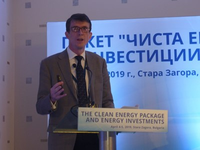 Генералният секретар на ЕВРОКОЛ Брайън Рикетс смята, че поне още 20 години Европа ще разчита на въглищата за електричеството си. СНИМКА: Ваньо Стоилов