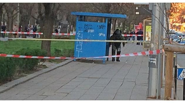 """Забравен багаж на спирка на булевард """"Янко Сакъзов'' доведе до отцепване на района."""