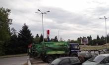 """Лайнарка очаква мадам и мосю Макрон пред резиденцията """"Евксиноград"""""""