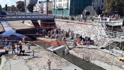 Фестивалаът в частта от Владайска река под Лъвов мост
