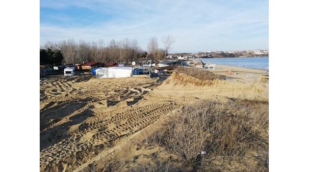 Разораната дюна ще се възстанови след 100 години