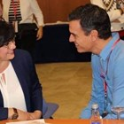 Лидерката на БСП Корнелия Нинова с испанския премиер Педро Санчес