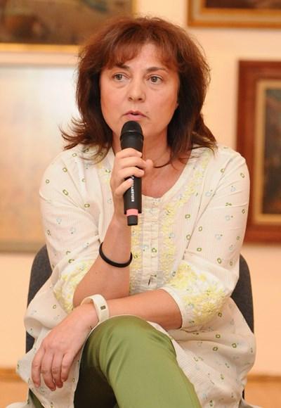 Мария Василева е куратор на едни от най-интересните изложби у нас през последните години. Тя работи в Софийската градска художествена галерия. СНИМКА: Булфото