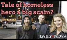 Двойка и бездомник измамиха състрадателни хора с 400 000 долара (Видео)