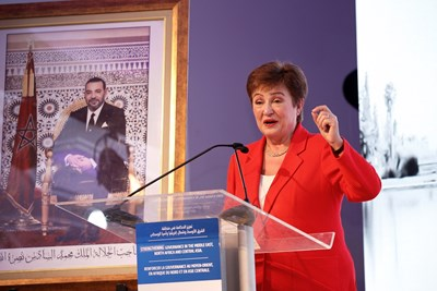 Управляващият директор на МВФ Кристалина Георгиева. Снимка Ройтерс