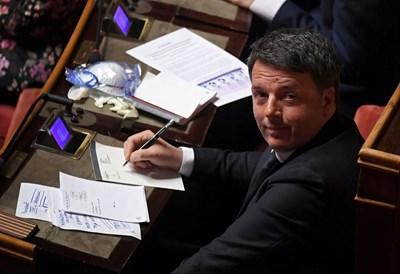 """Партията на бившия премиер Матео Ренци """"Италия Вива"""" подадоха оставка тази вечер СНИМКА: Ройтерс"""