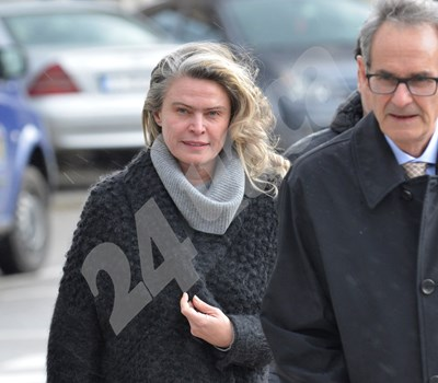 Елена Динева, съпруга на Васил Божков, на влизане в съда  СНИМКА: Йордан Симеонов СНИМКА: 24 часа