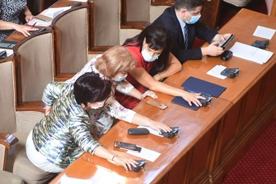 Депутатите гласува Снимки: Велислав Николов