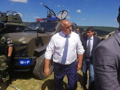 """Борисов днес присъства на закриването на многонационалната съвместна подготовка """"PLATINUM LION 2018"""". Снимка правителствена пресслужба"""