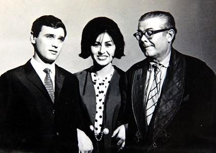 Гуджунов и Йорданка Христова в тв предаване през 1966 г.