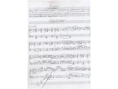 """Страница от ръкописа на """"Алцек"""". На малките снимки от горе на долу: диригентът Григор Паликаров и изпълнителите на главните роли Любов Методиева и Ангел Христов. СНИМКИ: АРХИВ"""