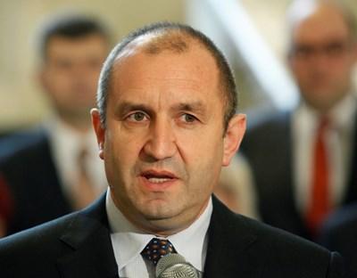 Румен Радев полага клетва като държавен глава на 19 януари 2017 г.