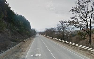 Пътят Коняво - Цървеняно Снимка: Гугъл мапс
