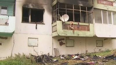 Пожарът избухнал в 22,30 ч в събота.  СНИМКА: БНТ