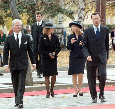 Посрещане на краля на Швеция Карл ХVI Густав и кралица Силвия в София през 2000 г.
