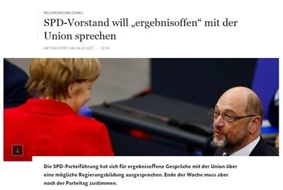 Меркел и Мартин Шулц Факсимиле faz.net