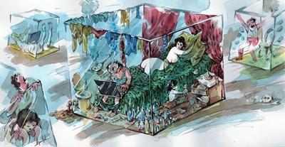 Анри Кулев нарисува хоум офис