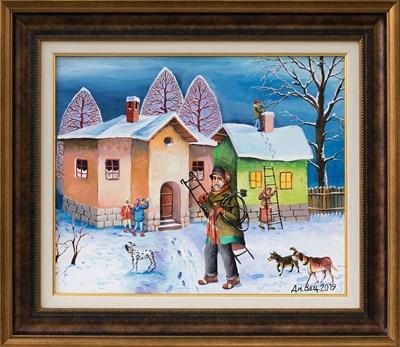 """""""Коминочистачът"""" - една от картините в изложбата"""