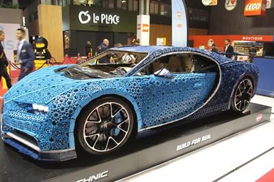 Производителят на детски играчки Lego показа копие на Bugatti Chiron в реални размери, който може и да се кара със скорост до 20 км/ч. СНИМКА: Георги Луканов
