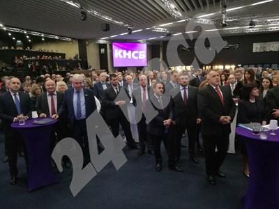 Президентът Румен Радев и премиерът Бойко Борисов отбелязват заедно 30-годишнината на КНСБ СНИМКИ: Йордан Симеонов