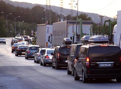 Български камиони са блокирани на границата ни с Турция. Снимка: Архив
