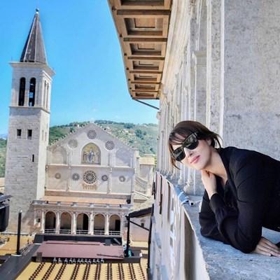 Моника на фестивала в Сполето, Умбрия   СНИМКИ Инстаграм пресофиси на Фестивала в Сполето и на Кинофестивала в Таормина