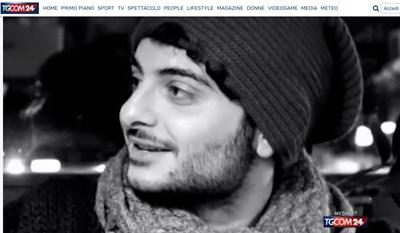 Италианският журналист Антонио Мегалици Кадър: TGCOM 24
