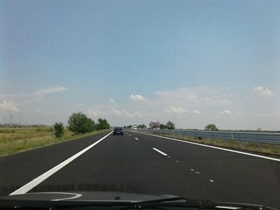 """Обновените 22 км от магистрала """"Тракия""""."""
