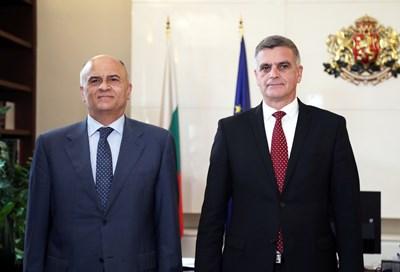 Министър-председателят Стефан Янев се срещна с посланика на Гърция Димитрис Хронопулос.