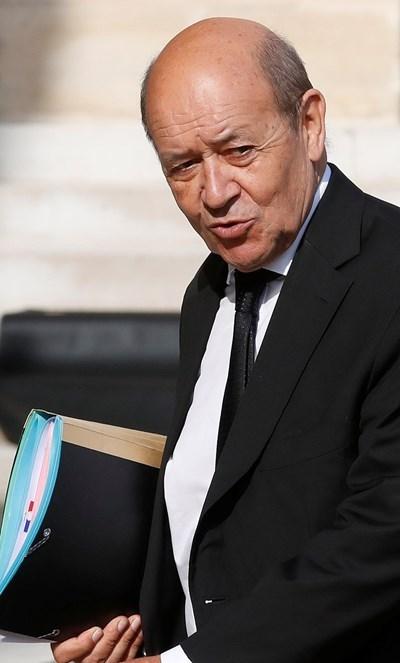 Министърът на външните работи на Франция Жан Ив льо Дриан  СНИМКА: Ройтерс