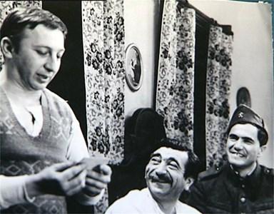 С Никола Анастасов (вляво) и Георги Парцалев в