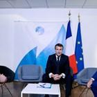 Александър Вучич, Еманюел Макрон и Хашим Тачи СНИМКА: Ройтерс