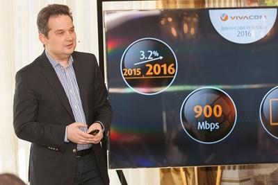 """Изпълнителният директора на """"Виваком"""" Атанас Добрев представи финансовите резултати на телекома за 2016 г."""