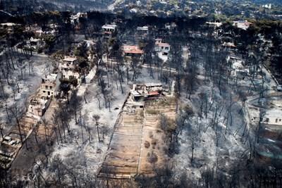 Привлекателното допреди дни курортно селище Мати днес е напълно опустошено. СНИМКА: РОЙТЕРС