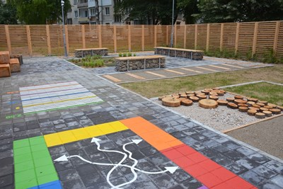 Обособена е сензорна градина СНИМКА: Община Габрово