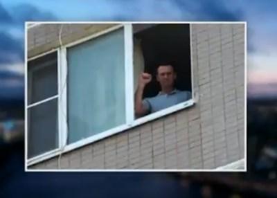 Навални в апартамента му в Москва Снимка: Туитър/Кира Ярмыш