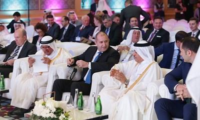 Президентът Румен Радев и емирът на Катар Шейх Тамим бин Хамад Ал-Тани СНИМКИ: прессекретариатът на президента