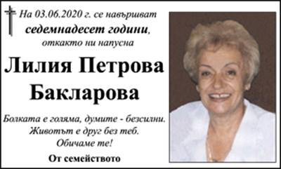 Лилия Бакларова