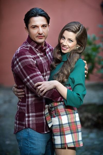 Любен Кънев и София Маринкова като семейство Сиромашки СНИМКА: Красена Ангелова