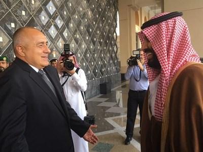 Бойко Борисов и престолонаследникът Мохамед бин Салман се разделиха като приятели след разговорите си в Рияд.