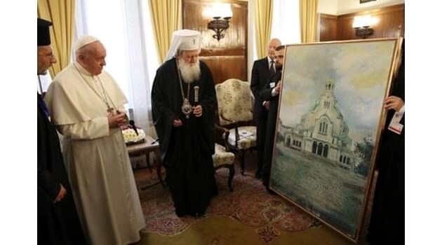 Авторът на картината подарък за папата: Поръчана ми беше от приятел, без да ми казват за кого е! След това дори не споменаха името ми!