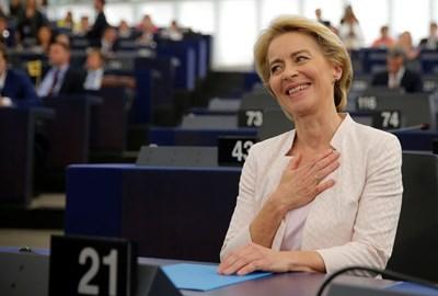 Урсула фон дер Лайен е щастлива след избирането и? на най-висшия пост в ЕС.