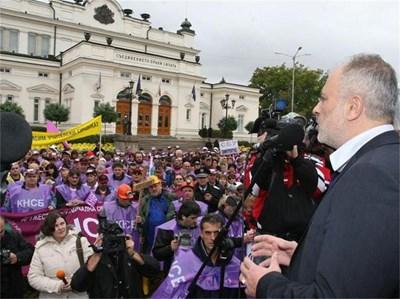 Тотю Младенов очаква, че протестът на синдикатите преди дни ще е последният да пенсионната реформа. СНИМКА: АНДРЕЙ МИХАЙЛОВ